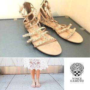 Vince Camuto Hevelli Studded Gladiator Nude Sandal